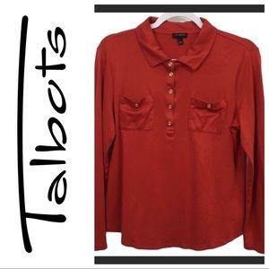 🔥 FLASH SALE Talbots brick red long sleeve top